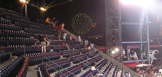 Atlanta Fireworks while at the Ted - Atlanta
