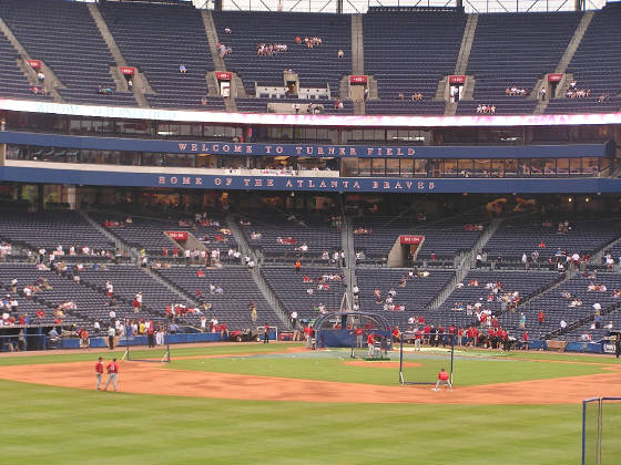 The first view of Turner Field - Atlanta, Ga.