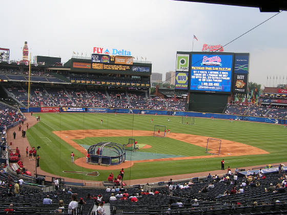 The view of Turner Field from behind Home Plate
