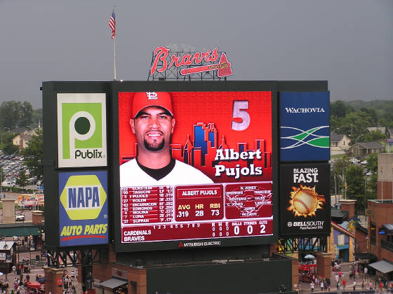 A GREAT Scoreboard - Turner Field, Atlanta