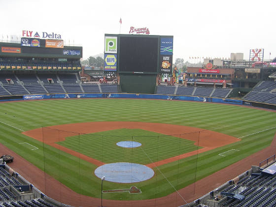 Turner Field resting - Atlanta, Ga